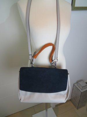 Crossbody Tote Umhaengetasche Henkeltasche Messanger Bag von Zara in hellgrau, blau und orange