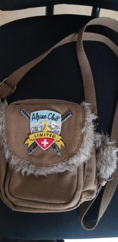 Alpine Club Borsa di tela marrone-grigio-verde oliva