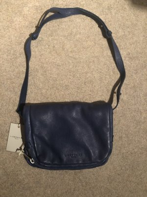 Liebeskind Crossbody bag dark blue-silver-colored leather