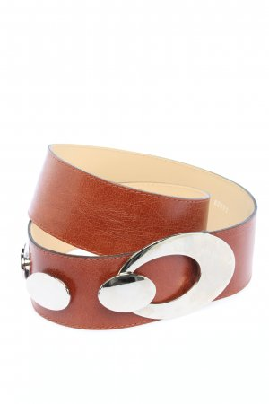 croute de cuir Faux Leather Belt red-silver-colored casual look