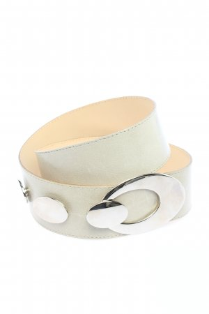 croute de cuir Faux Leather Belt white casual look