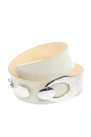 croute de cuir Pasek z imitacji skóry biały W stylu casual