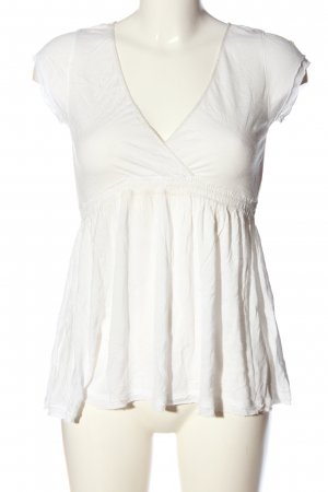 CRS V-Neck Shirt white casual look