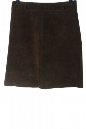Cruse Leather Skirt brown casual look
