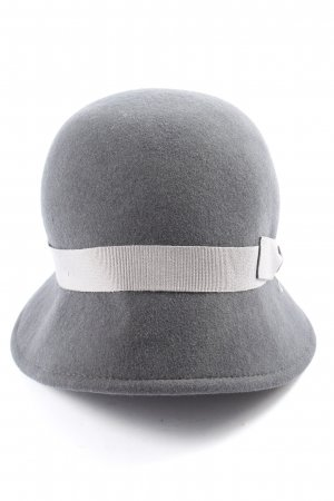 crushable Gorro con borla gris claro-blanco look casual