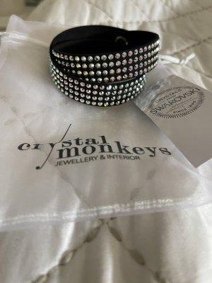 Crystal Monkeys Armband mit Swarovski Crystals mit Geschenk sackerl neu ohne Etikett