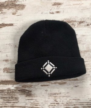 Merchandising Chapeau en tissu noir-blanc