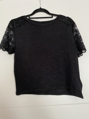 Devided von H&M Cropped Shirt black