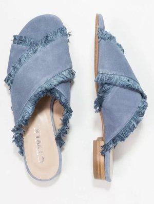 CTWLK BOGOTA Pantolette flach blau , Leder, Gr. 40, Neuwertig