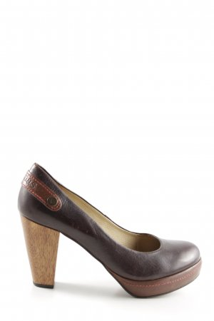 Cubanas Hochfront-Pumps bronzefarben-braun Business-Look