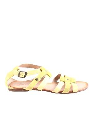 Cubanas Komfort-Sandalen blassgelb Casual-Look
