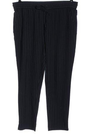 Cubus Pantalone largo nero motivo a righe stile casual
