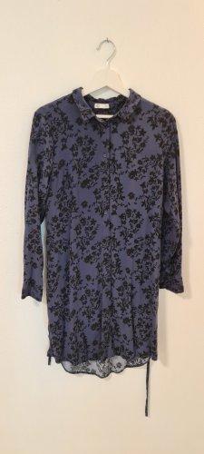 Cubus/Hemdblusenkleid/Größe 40/ geeignet für eine M/Royalblau mit schwarzen Druck/Zustand: Sehr gut
