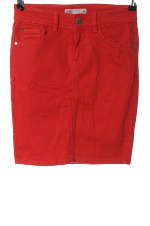 Cubus Gonna di jeans rosso motivo a righe stile casual