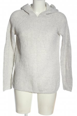 Cubus Maglione con cappuccio grigio chiaro puntinato stile casual
