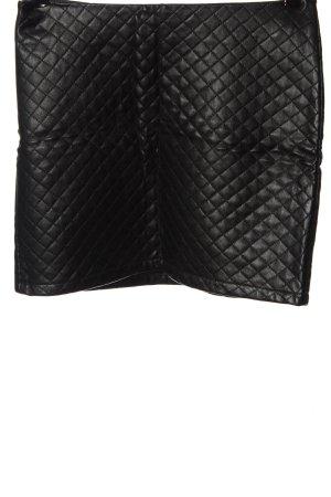 Cubus Spódnica z imitacji skóry czarny Pikowany wzór W stylu casual