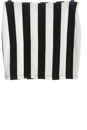 Cubus Minirock schwarz-weiß Streifenmuster Casual-Look