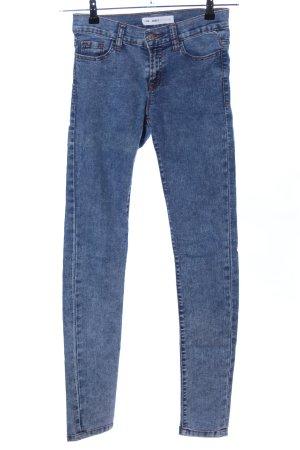Cubus Röhrenhose blau Casual-Look