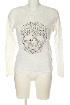 Cubus Maglione girocollo bianco puntinato stile casual