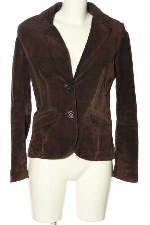 Cue Leather Blazer brown business style
