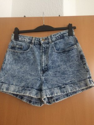 Cuff Short denim High-Waist
