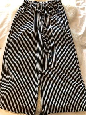 Pieces Culottes white-black