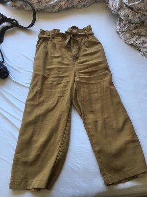 Only Falda pantalón de pernera ancha marrón arena