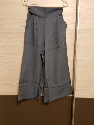 Culotte 7/8 in grau / blau