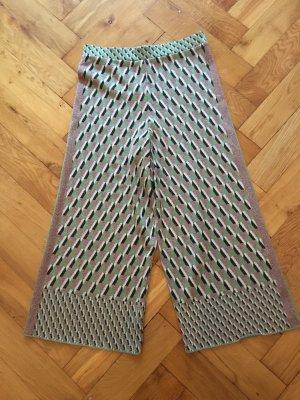 Zara Knit Pantalone culotte multicolore