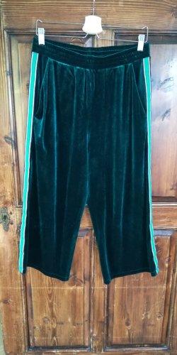 Culotte aus Samt (dunkelgrün)