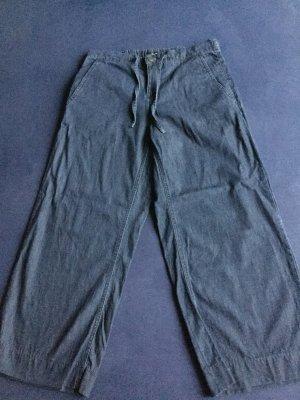 Opus Culottes blue cotton