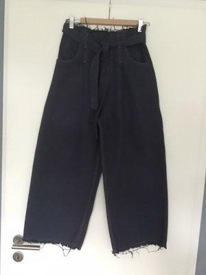 Tensione In Falda pantalón de pernera ancha azul oscuro Algodón