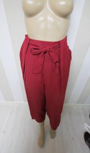 Falda pantalón de pernera ancha rojo oscuro