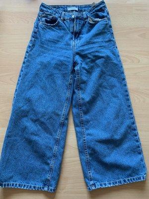 Bershka Jeansy z prostymi nogawkami stalowy niebieski-błękitny