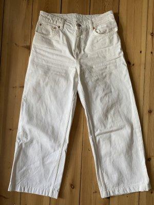 Mango Jeans large blanc