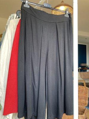 Mango Falda pantalón de pernera ancha negro