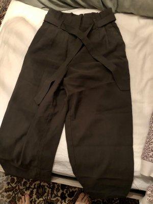 H&M Falda pantalón de pernera ancha verde oscuro
