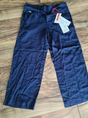 Street One Falda pantalón de pernera ancha azul-azul oscuro