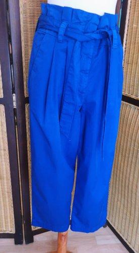 Marc Aurel Culottes blue-steel blue cotton