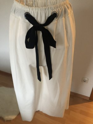 Pantalone culotte bianco-nero