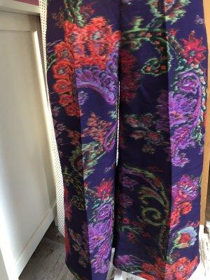 Pantalone culotte viola scuro-arancione