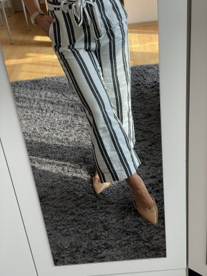 H&M Culottes wit-donkerblauw