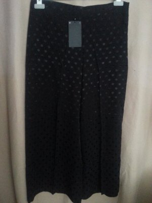 Culottes Hose von Zara ,schwarz, Gr. L, Viskose,