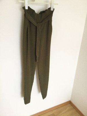 Pieces Pantalone culotte verde oliva