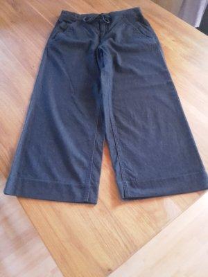 Opus Culottes dark blue cotton