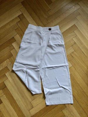 Zara Falda pantalón de pernera ancha crema