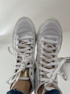 cult Sneaker con zeppa bianco-oro