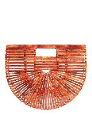 Cult Gaia Small Acrylic Ark Bag in Agate