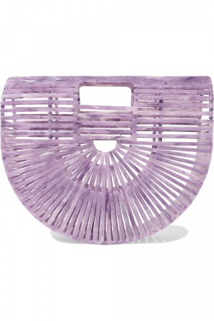 Cult Gaia Small Acrylic Ark Bag in Lavender