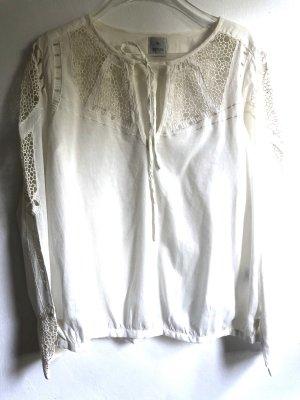 Culture Camicetta a maniche lunghe bianco sporco Cotone